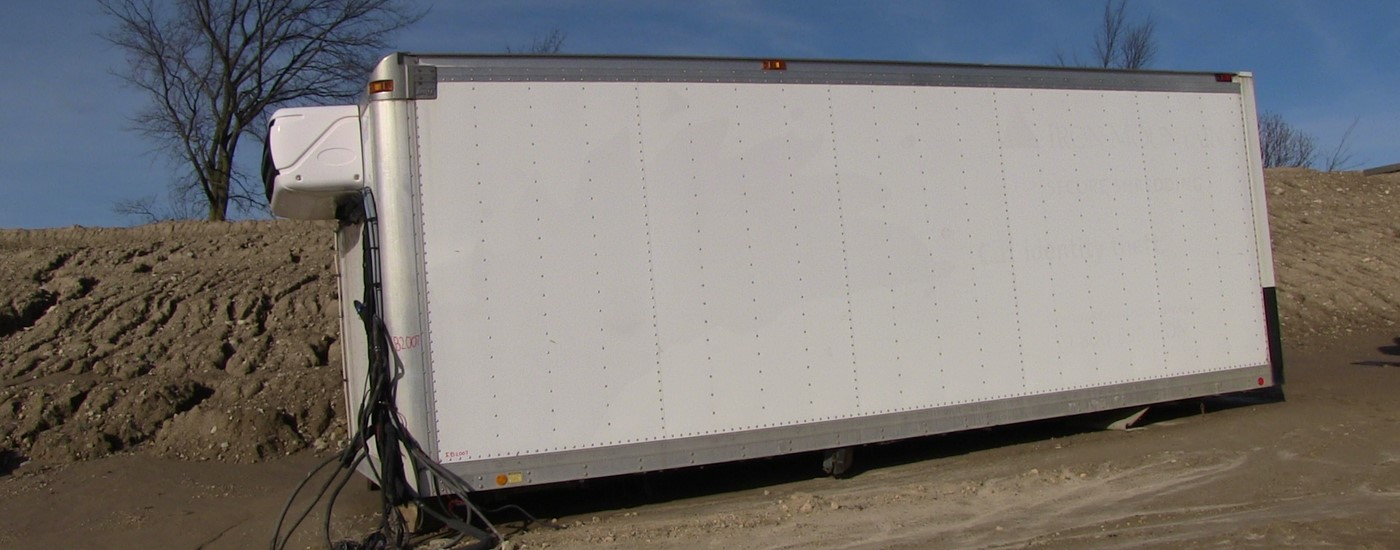 Used Mickey insulated truck body with reefer